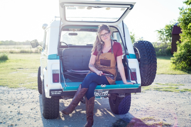 Kate Cook with Jeep