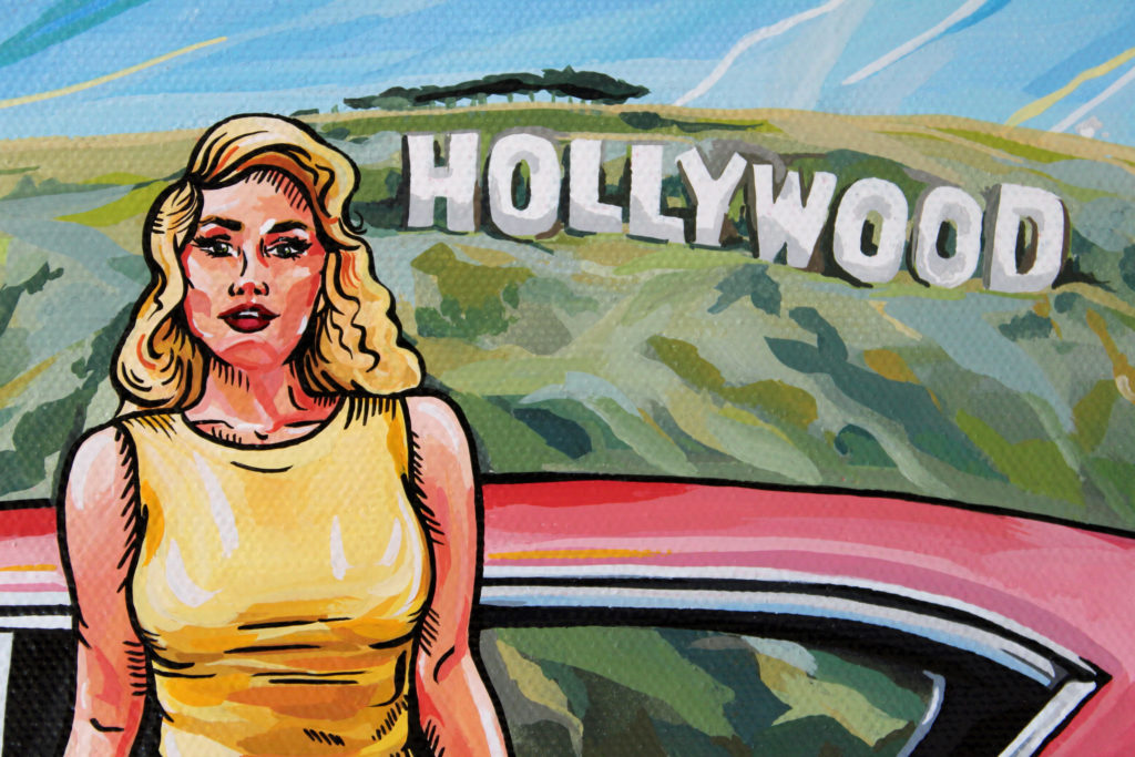 Hollywood Painting Pin-up