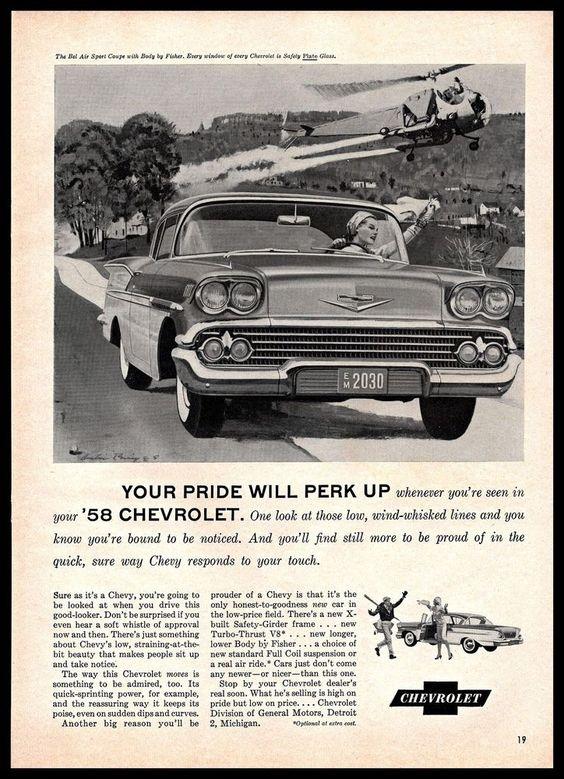 Original 1958 Chevrolet Advertisement Inspiration