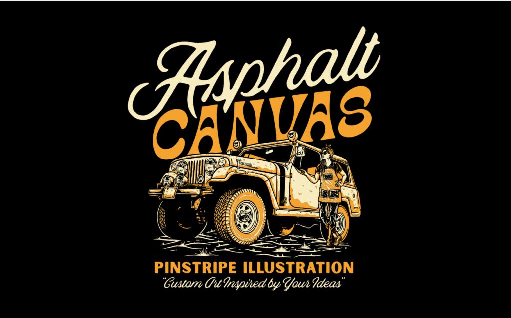 Asphalt Canvas Official T-shirt for Artist, Kate Cook
